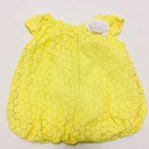 Children's Place baby girl yellow lace dress 3-6 M